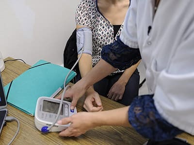 Exposure of pregnant women and blood pressure
